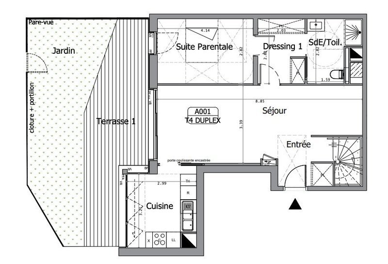 Appartement, 126,37 m²