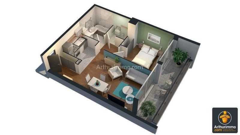 Appartement, 47,62 m²