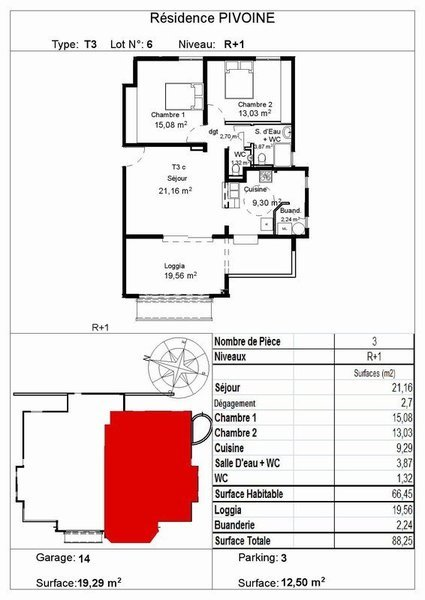 Appartement, 68,69 m²