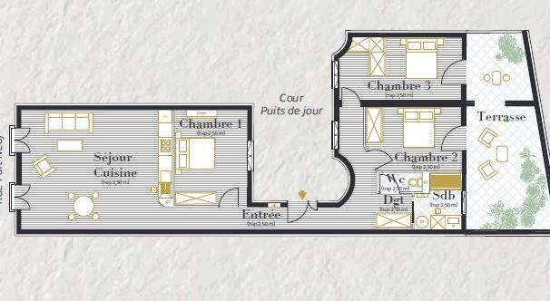 Appartement, 92,54 m²