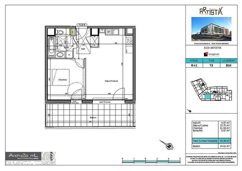 Appartement, 43,31 m²