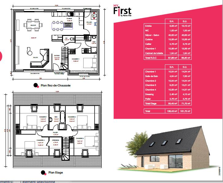 Maison neuve, 138,43 m²