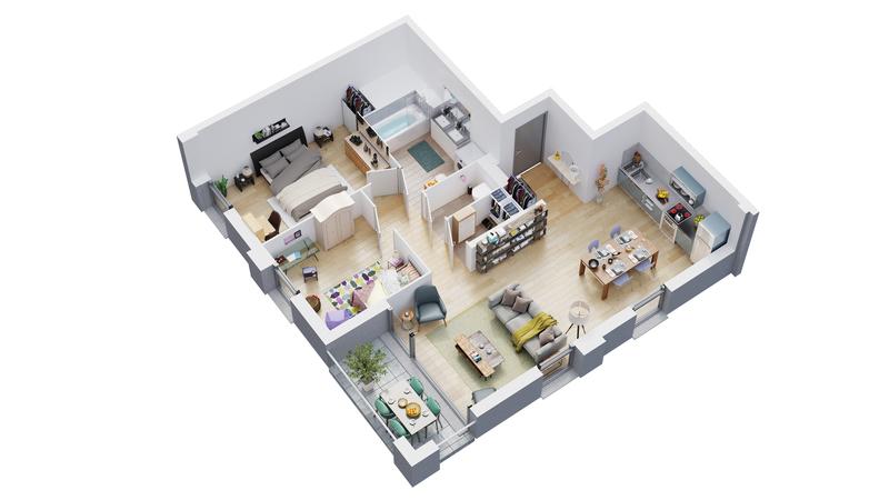 Appartement neuf, 82,16 m²